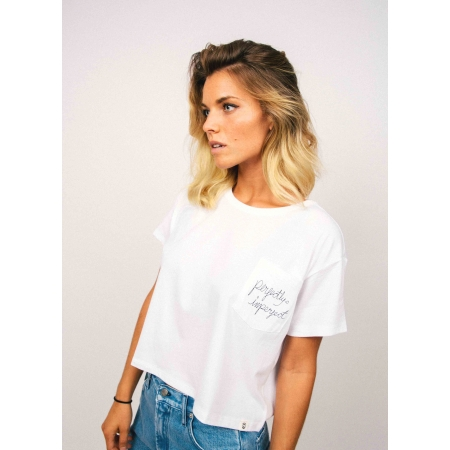 T - SHIRT CROP WOMAN 9 - IMPERFECT - WHITE