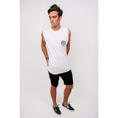 TANK TOP MAN 1 - PARADISE PATCH WHITE