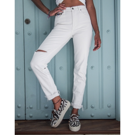JEANS WOMAN NINA - JEANS WHITE RETRO